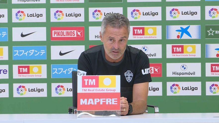 L'entrenador de l'Elx, Fran Escribà