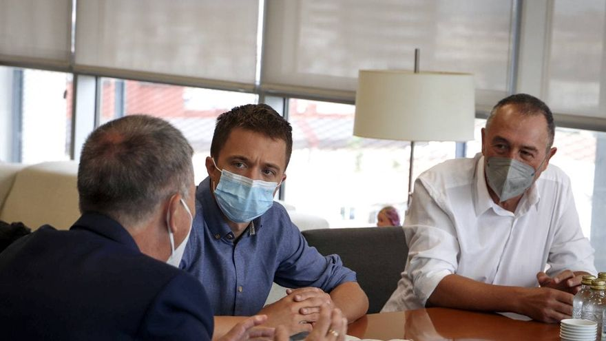 Baldoví i Errejón, en una reunió amb el conseller d'Economia Rafa Climent