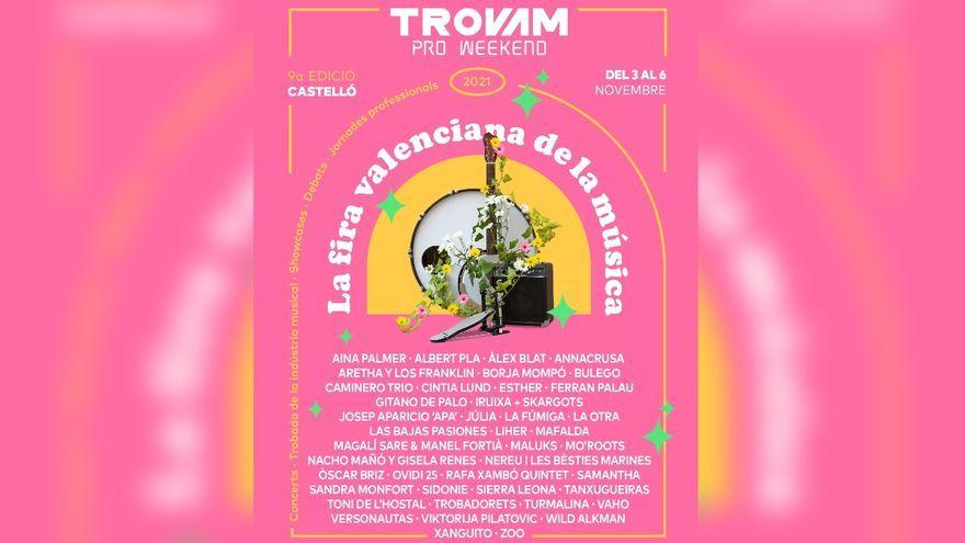 Cartell de la novena edició de La Fira Valenciana de la Música